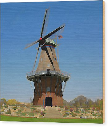 Wind Mill  Wood Print by Robert Pearson