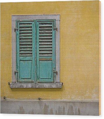 Window Shutter Wood Print by Heiko Koehrer-Wagner