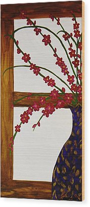 Window With A View Wood Print by Celeste Manning