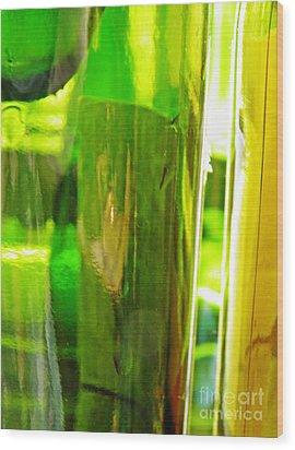 Wine Bottles 21 Wood Print by Sarah Loft