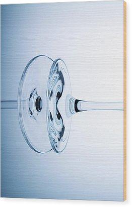 Wine Glass 11 Wood Print by Rebecca Cozart
