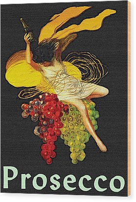 Wine Maid Prosecco Poster Wood Print by Jerry Schwehm