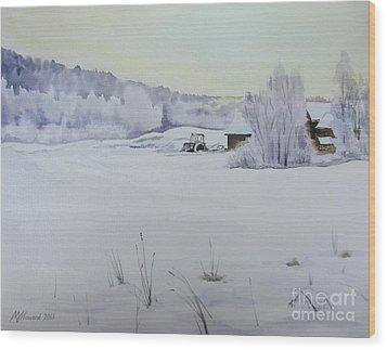 Winter Blanket Wood Print by Martin Howard