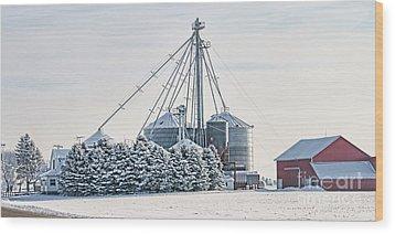 Winter Farm  7365 Wood Print by Jack Schultz