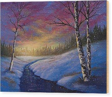 Winter Flurries Wood Print by C Steele