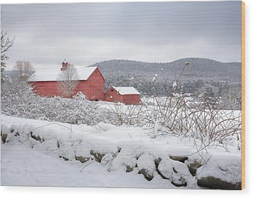 Winter In Connecticut Wood Print by Bill Wakeley