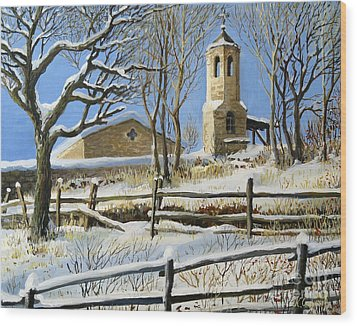 Winter In Stoykite Wood Print by Kiril Stanchev