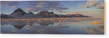 Winter In The Salt Flats Wood Print by Chad Dutson