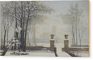 Winter Landscape Wood Print by Alessandro Guardassoni