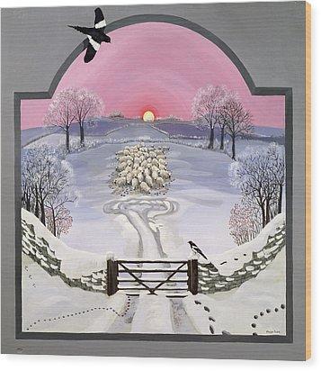 Winter Wood Print by Maggie Rowe