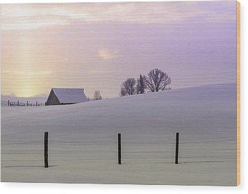 Winter Sunrise Wood Print by Teri Virbickis