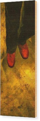 Witch Walking Wood Print by RC DeWinter