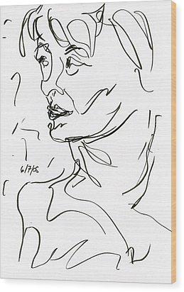 Woman Wood Print by Rachel Scott
