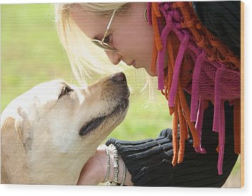 Woman's Best Friend Wood Print by Andrew Heald