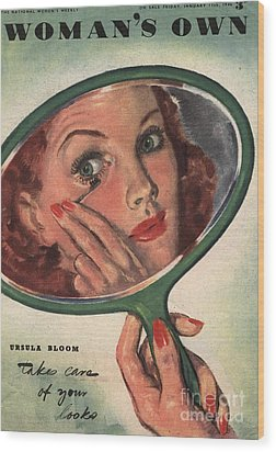 WomanÕs Own 1944 1940s Uk Make-up Wood Print by The Advertising Archives