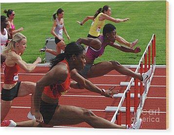 Womens Hurdles 3 Wood Print by Bob Christopher