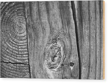 Wood Black And White Wood Print by Dan Sproul