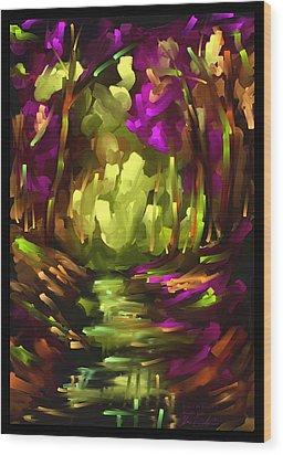 Wooden Light - Scratch Art Series - # 10 Wood Print by Steven Lebron Langston