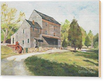 Woodsons Mill Wood Print by J Luis Lozano
