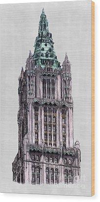 Woolworth Building New York City Wood Print by Gerald Blaikie