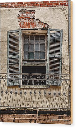 Worn Window Wood Print by Christopher Holmes