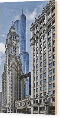Wrigley And Trump In Harmony Wood Print by Christine Till