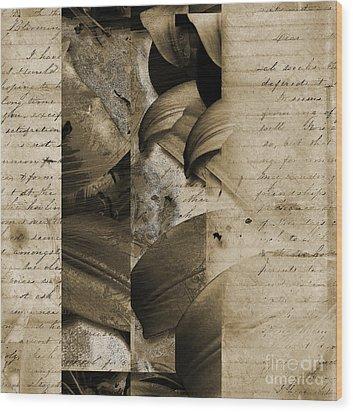 Written II Wood Print by Yanni Theodorou