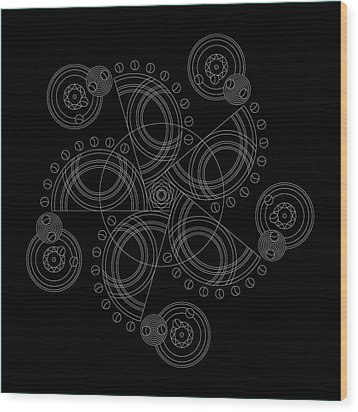 X To The Sixth Power Inverse Wood Print by DB Artist