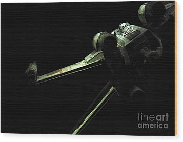 X-wing Fighter Wood Print by Micah May