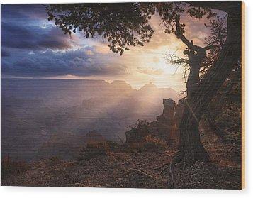 Yaki Point Wood Print by Michael Breitung