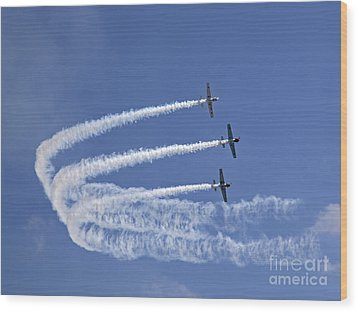 Yaks Aerobatics Team Wood Print by Jane Rix