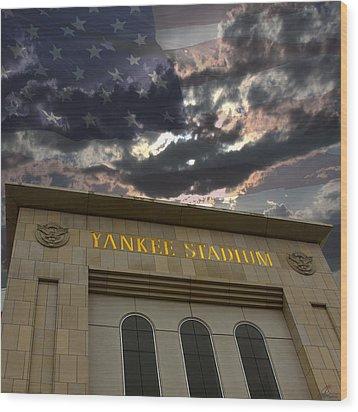 Yankee Stadium Ny Wood Print by Chris Thomas