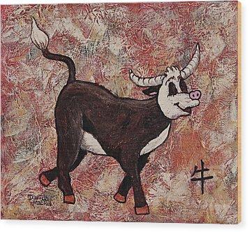 Year Of The Ox Wood Print by Darice Machel McGuire