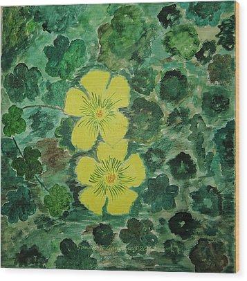 Yellow Magic  Wood Print by Sonali Gangane