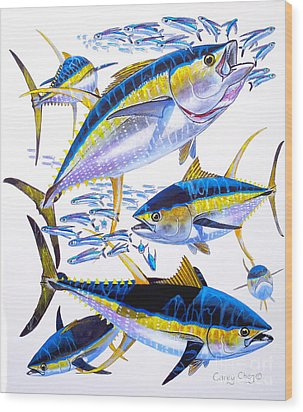Yellowfin Run Wood Print by Carey Chen
