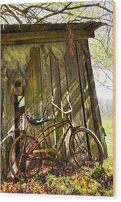 Yesterday Wood Print by Debra and Dave Vanderlaan