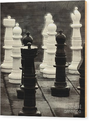 Your Move Wood Print by Colleen Kammerer