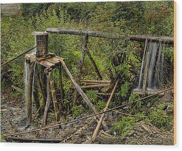 Yubeng Water Works Wood Print by James Wheeler