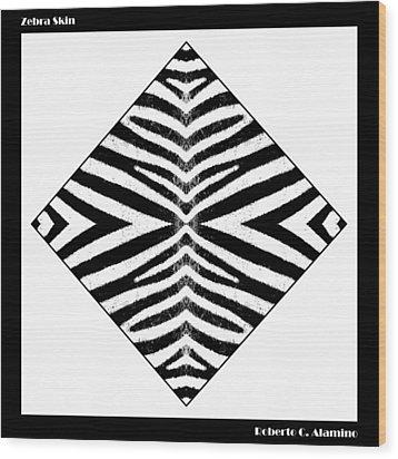 Zebra Skin Wood Print by Roberto Alamino