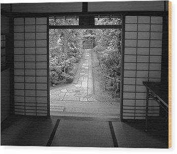 Zen Garden Walkway Wood Print by Daniel Hagerman