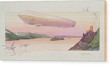 Zeppelin, Published Paris, 1914 Wood Print by Ernest Montaut