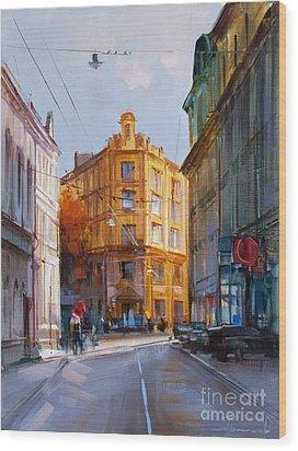 Zlatoustinskiy Alley.  Wood Print by Alexey Shalaev