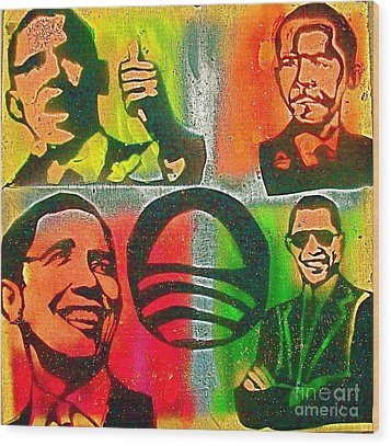 4 Barack  Wood Print by Tony B Conscious