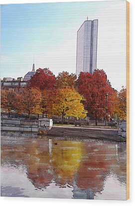 Back Bay Colors Wood Print by Carl Licence