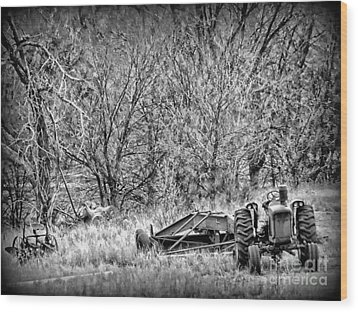 Tractor Days Wood Print by Michelle Frizzell-Thompson