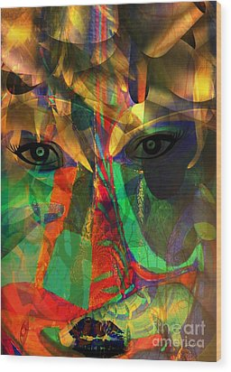 Viewing When Light Is On Wood Print by Fania Simon