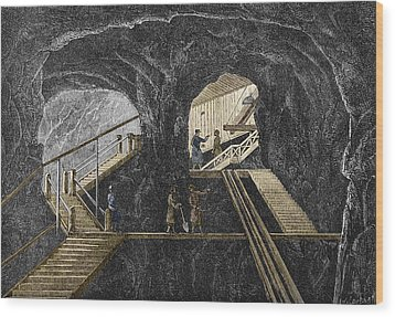 19th-century Mining Wood Print by Sheila Terry