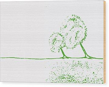 Abstract Tree Art By Shawna Erback Wood Print by Shawna Erback