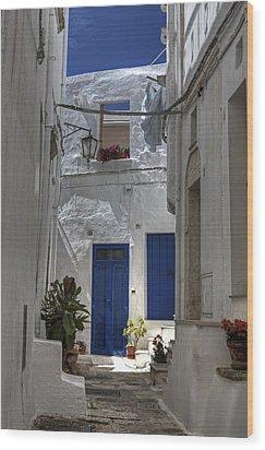 Apulia - Blue-white Wood Print by Joana Kruse