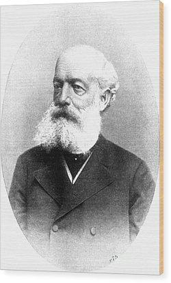 August Kekulé, German Organic Chemist Wood Print by Science Source